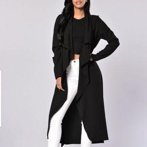 Fashion nova black business coat